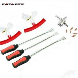 12 Pcs Fietsband Veranderen Tool Set Band Demontage Montage Kit Band Spoon Lever Tool Velg Protector Scheden Voor Motorfiets auto