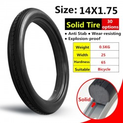 14*1.75 Bicycle Fixed Free Inflatable Solid Tire 14x1.75 Anti Stab Riding MTB Road Bike Tyre