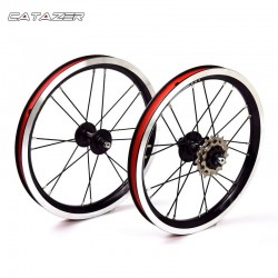 14 Inch Aluminum Alloy Wheelset 5 Bearing 3 Speed Hub 74mm 84mm Kids Balance Bike BMX Black Wheelset Bicycle Part