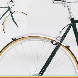 1 Set Zilver Fiets Voor Achter Fenders Retro Bike 700C 23C 25C Modder Guard Wing Road Fiets Spatbord Spatbord Onderdelen