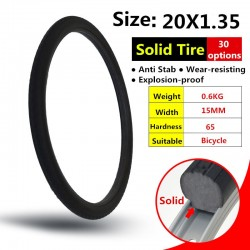 20*1.35 Bike Bicycle Tubeless Solid Tires MTB Mountain Road Bike Tyre Cycling Bicycle Bike Tires Solid Tyre For 20x1.35 Bike