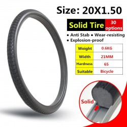 20*1.5 Bicycle Solid Tire Anti Stab Riding MTB Road Bike 20 x 1.5 Tyre Folding Bicycle Tyres Bike Tyres