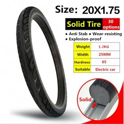 20*1.75 Bicycle Solid Tires 20 Inch 20x1.75 Tires Anti-slip Black Tires Bike Tires MTB Riding Road Bike
