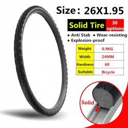 26*1.95 Bicycle Solid Tire 26 Inch Anti Stab Riding MTB Road Bike Solid Tyre Cycling Tyre