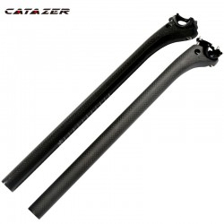 3K Full Carbon Fiber Fiets Zadelpen Offset 20Mm Fietsonderdelen 25.4/.27.2/30.8/31.6*350/400Mm Weg Mountainbike Zadelpen