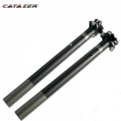 3K Matte Full Carbon Fiber Fiets Zadelpen Superlichte Mtb Racefiets Fietsen Zadelpen Onderdelen 27.2/30.8/31.6X350/400 Mm