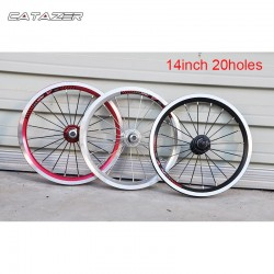 4 Bearing 14 Inch Alumilum Alloy Child Bike Wheelset 20H V Brake Kids Bike Wheel 412 Folding Bike Wheels