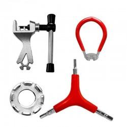 4 Fiets Spaaksleutel Fiets 8 Way Spaaknippel Key Velg Wrench Rvs Reparatie Tool Key Fiets Accessoire 1 Pc