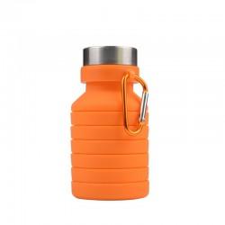 550Ml Silica Creatieve Opvouwbare Fles Water Reizen Bergbeklimmen Draagbare Fietsen Cup Fiets Water Cup Vouwen Fles Water