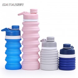 550ml Portable Silicone Collapsible Water Bottle My Drinking Bottle Kettle for Sport Outdoor Travel Retractable Folding Bottles