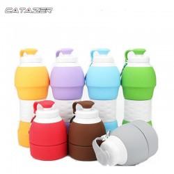 580Ml Outdoor Reizen Opvouwbare Water Fles Siliconen Cup Vouwen Water Fles Mini Inklapbare Gebotteld Water Flessen 3 Kleuren