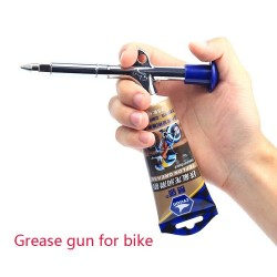 Aluminium Fiets Glijmiddel Grease Gun Voor Mountain Mtb Bike Service Tools Fiets Accessoires Vet Olie Precieze Injector Gereedschappen