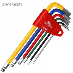 Bicycle Hex Key Wrench Set MTB Road Bike Repair Tool Kit Service Wrench6 PCS Colour Flat Ball 2/2.5/3/4/5/6mm Bicycle Wrench