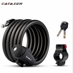 Catazer 1.2/ 1.8M Fiets Lock Anti-Diefstal Mountainbike Wachtwoord Lock Steel Cable Lock Bike Rijden Accessoires algemene Elektrische Auto