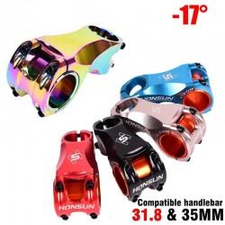 Fiets Stuurpen 31.8Mm 35Mm Ultralight 156G Mtb Mountainbike Stuurpen 28.6Mm Vooruit 70Mm Dh/Am/Xc-17 Graden Fiets Onderdelen