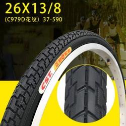 Fietsbanden 26 X1 3/8 Banden 26 Inch Banden Dames Vouwen Bmx Fiets Binnenbanden Camera Tire 27-590 dikker Band