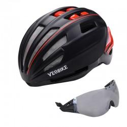 Fietshelm Veiligheid Vrouwen Mannen Ultralight Weg Mountainbike Mtb Winddicht 2 Glazen Fietsaccessoires Racing Casco Ciclismo