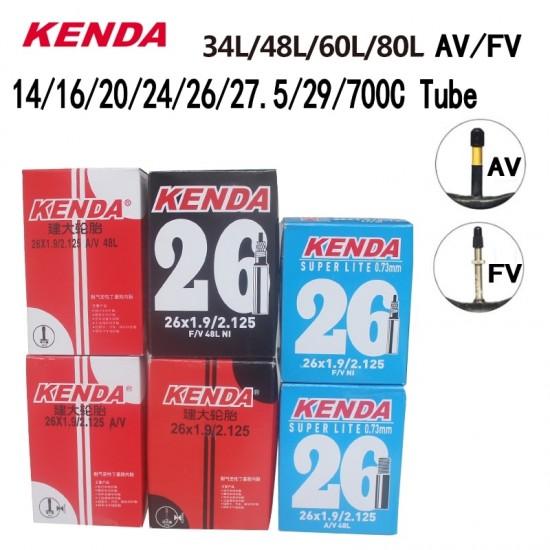Kenda Bike Inner Tube For Mountain Road Bike Tyre Butyl Rubber Bicycle Tube Tire 26/27.5/29/700c Presta Schrader Valve Tube