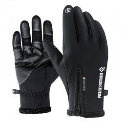 Motorhandschoenen Moto Handschoenen Winter Thermische Fleece Gevoerde Winter Waterbestendig Touch Screen Antislip Motorrijden Handschoenen