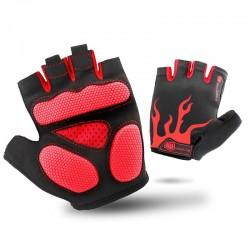 Nieuwe Antislip Fietsen Handschoenen Unisex Mannen Vrouwen Outdoor Mtb Bike Wasbare Half Vinger Handschoenen Korte Vinger Sport Handschoenen